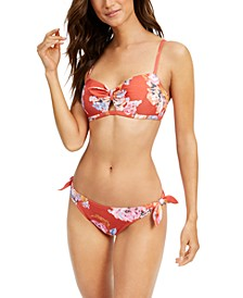 Bow Bikini Top & Side-Tie Bikini Bottoms, Created for Macy's