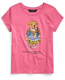 Big Girls Madras Bear Cotton Jersey T-Shirt