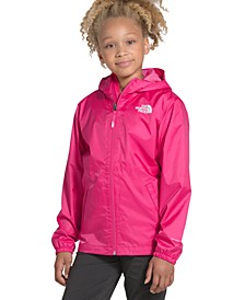 Big Girls Hooded Zipline Rain Jacket