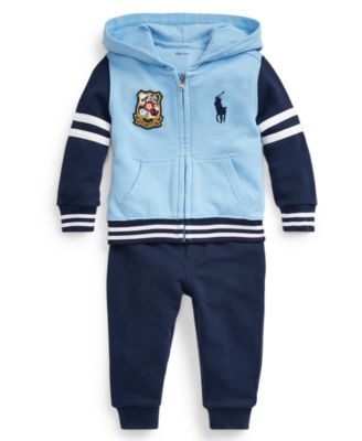 New Baby Boys Ralph Lauren Cotton Hoodie-12 Months