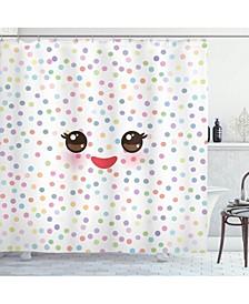 Eyelash Shower Curtain