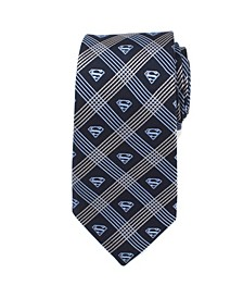 Superman Shield Plaid Men's Tie