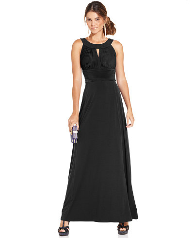 Sangria Sleeveless Keyhole Gown - Dresses - Women - Macy\'s