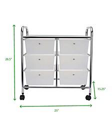 Storage Drawer Rolling Utility Cart