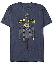 Minions Men's Gru Light Bulb Short Sleeve T-Shirt