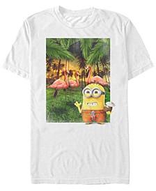 Minions Men's Bob Flamingos Short Sleeve T-Shirt