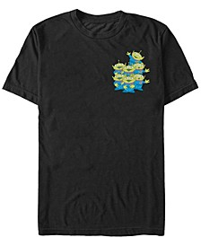 Fifth Sun Toy Story Men's Aliens Group Left Chest Short Sleeve T-Shirt