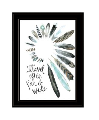 Travel Often Far and Wide by Masey St, Ready to hang Framed print, White Frame, 15