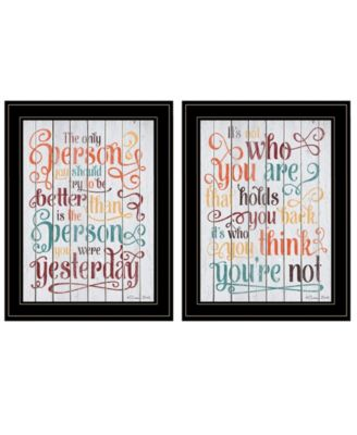 The Only Person 2-Piece Vignette by SUSAn Ball, White Frame, 15