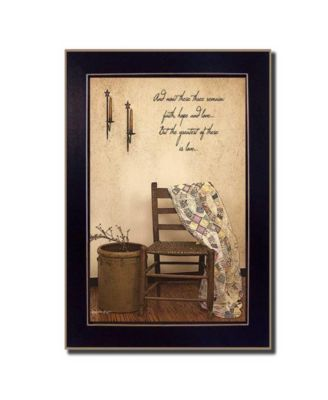 These Three Remain By SUSAn Boyer, Printed Wall Art, Ready to hang, Black Frame, 14