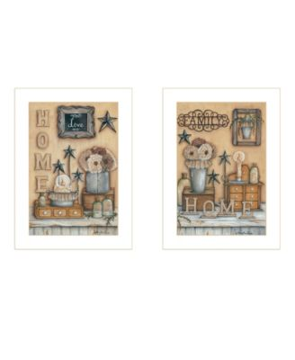 Where Family Friends Gather II 2-Piece Vignette by Mary Ann June, White Frame, 14
