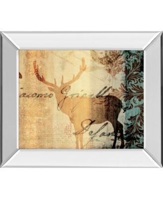 Letter I by F. Leal Mirror Framed Print Wall Art - 22