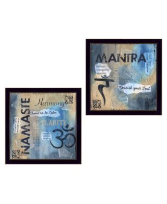 Yoga II Collection By Debbie DeWitt, Printed Wall Art, Ready to hang, Black Frame, 28
