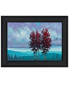 Trendy Decor 4u Two Red Trees by Tim Gagnon, Ready to Hang Framed Print Collection