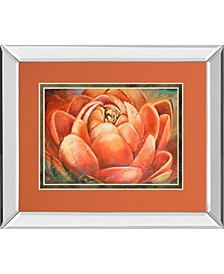 Red Lotus by Patricia Pinto Mirror Framed Print Wall Art Collection