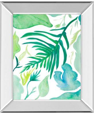 Green Water Leaves II by Kat Papa Mirror Framed Print Wall Art, 22