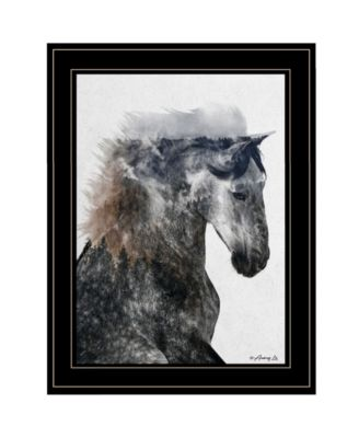 Proud Stallion by andreas Lie, Ready to hang Framed Print, White Frame, 15
