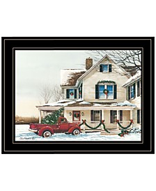 Trendy Decor 4U Preparing for Christmas by John Rossini, Ready to hang Framed Print Collection