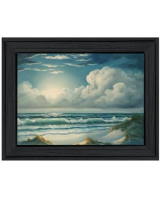 Moon Glow by Georgia Janisse, Ready to hang Framed Print, White Frame, 19