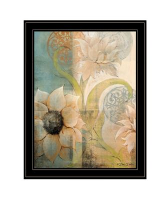 Meandering Flowers I by Dee Dee, Ready to hang Framed Print, Black Frame, 21