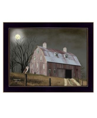 Midnight Moon by Billy Jacobs, Ready to hang Framed Print, Black Frame, 26