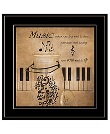 Trendy Decor 4U Music by Robin-Lee Vieira, Ready to hang Framed Print Collection