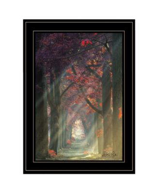 Path of Happiness by Martin Podt, Ready to hang Framed Print, Black Frame, 15