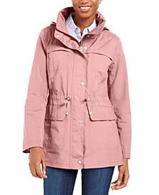 Packable Hooded Water-Resistant Anorak Coat