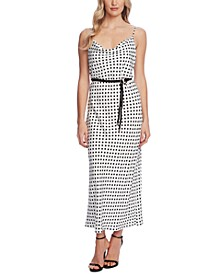 Dot-Print Sleeveless Dress