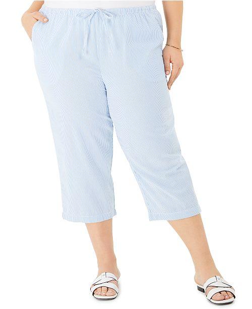 seersucker pants womens plus