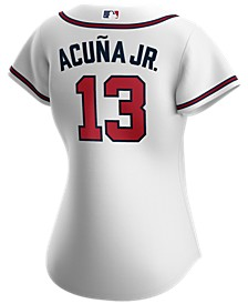 Atlanta Braves Women's Ronald Acuna Official Player Replica Jersey