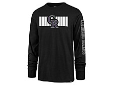 Colorado Rockies Men's Cross Stripe Long Sleeve T-Shirt
