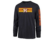 Houston Astros Men's Cross Stripe Long Sleeve T-Shirt