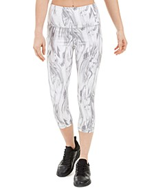 Marble-Print High-Waist Cropped Leggings, Created for Macy's