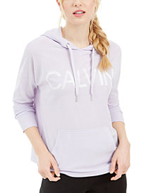 Calvin Klein Performance Logo Waffle-Knit Hoodie