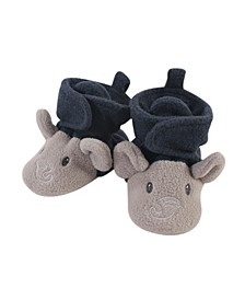 Baby Toddler Girls and Boys Elephant Cozy Fleece Booties