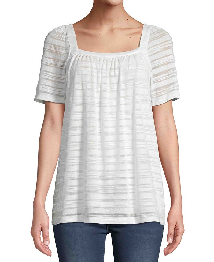 JPR - Striped Short-Sleeve Top