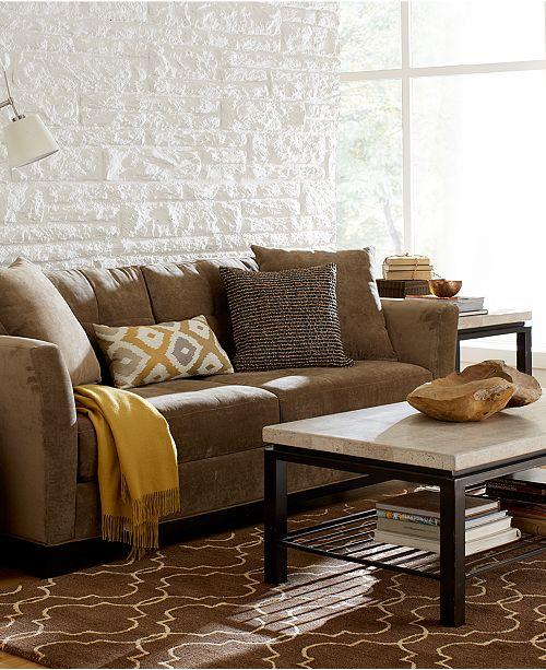 Furniture Elliot Fabric Microfiber Queen Sleeper Sofa Bed Custom Colors Macy S
