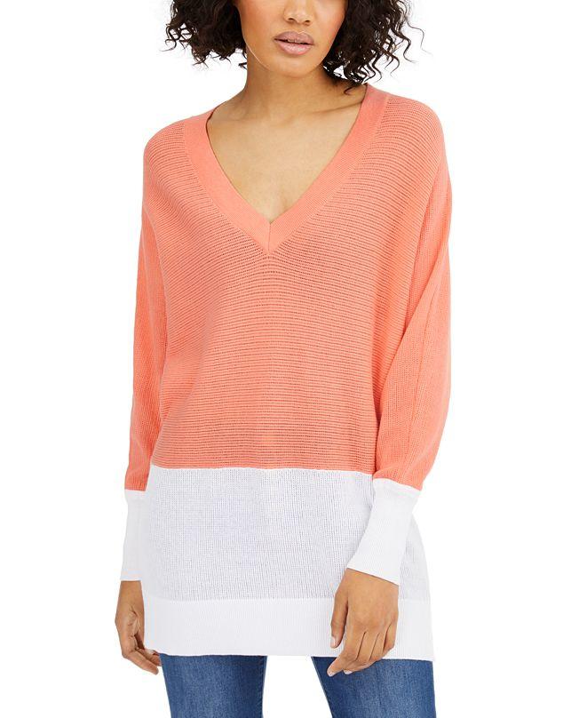 Michael Kors Cotton Colorblocked Sweater