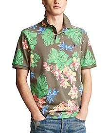 Men's Classic-Fit Tropical-Print Polo Shirt