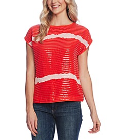 Sequin-Stripe Top