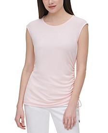 Ruched Side-Tie Top