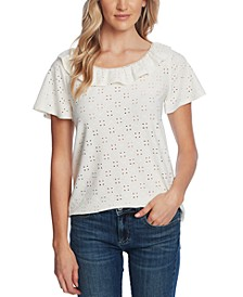 Ruffled Eyelet Top