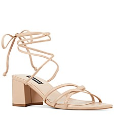 Meli Block-Heel Tie-Up Sandals
