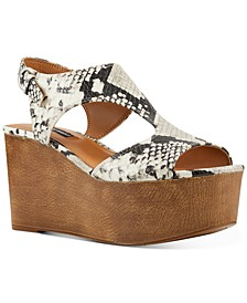 Edge Platform Wedge Sandals