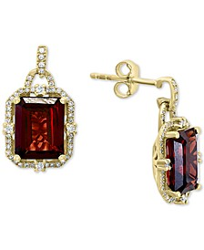 EFFY® Rhodolite Garnet (5-1/10 ct. t.w.) & Diamond (1/4 ct. t.w.) Drop Earrings in 14k Gold