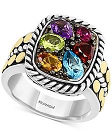 EFFY® Multi-Gemstone Statement Ring (2-1/10 ct. t.w.) in Sterling Silver & 18k Gold