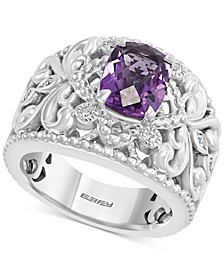 EFFY® Amethyst (2 ct. t.w.) & White Sapphire (1/20 ct. t.w.) Ring in Sterling Silver