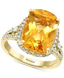 EFFY® Citrine (5-1/3 ct. t.w.) & Diamond (3/8 ct. t.w.) Ring in 14k Gold