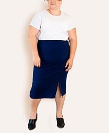 Women's Plus Size French Terry Pencil Skirt